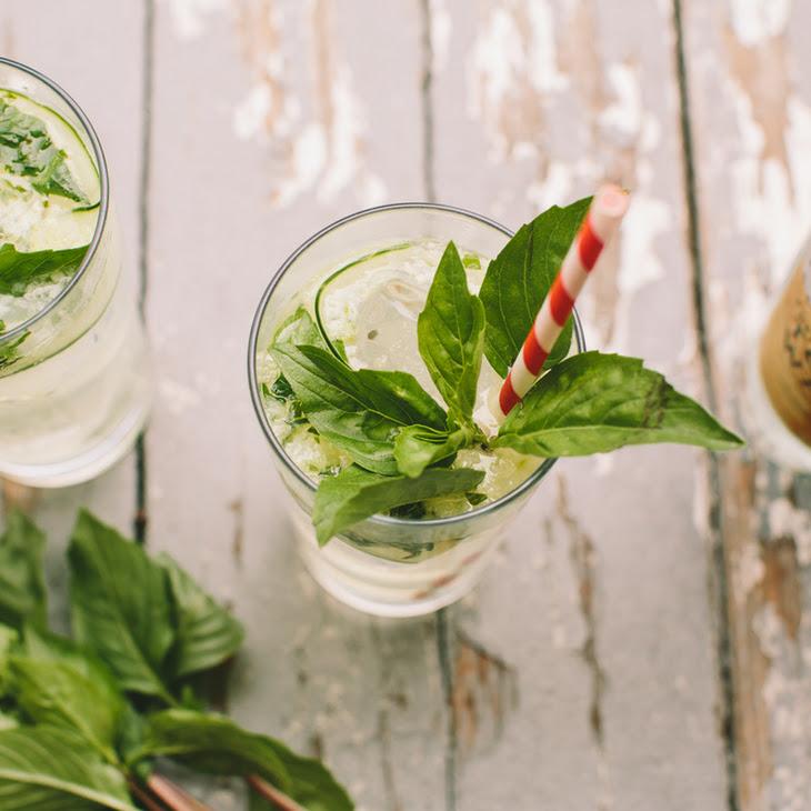 Cucumber Thai Basil Gin and Tonic