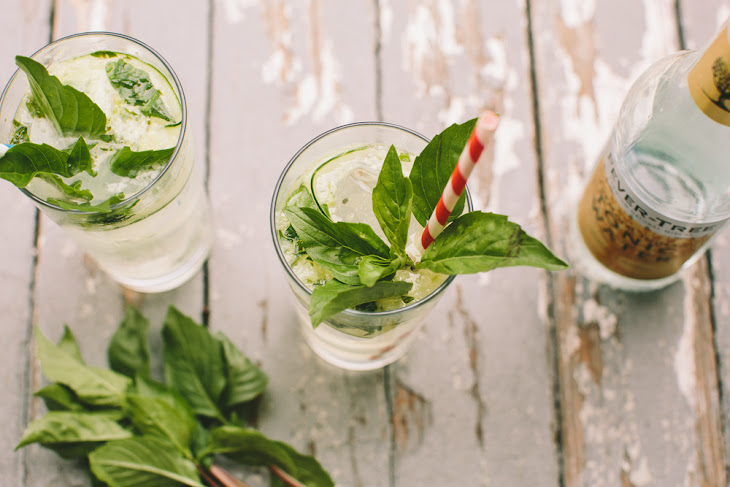 Cucumber Thai Basil Gin and Tonic Recipe