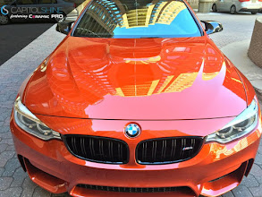 Photo: Finished applying our Ceramic Pro to this BEAUTIFUL Sakhir Orange BMW