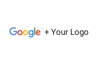 Don't lock up the Google logo with your own logo.