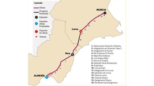 Lorca enreda el AVE de Almería
