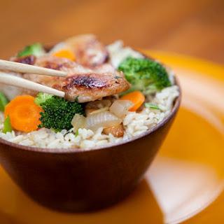 Chinese Garlic Chicken Stir-fry.