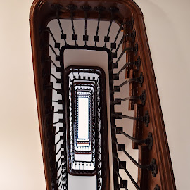 Going up !  by Nelida Dot - Buildings & Architecture Other Interior ( symmetry, stairs, geometry, inside, architecture, interior )