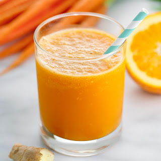 Carrot Orange Ginger Smoothie with Turmeric