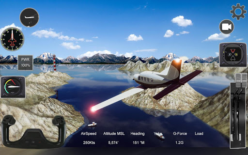 Extreme Airplane simulator 2019 Pilot Flight games apkpoly screenshots 5