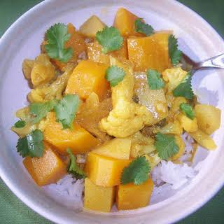 Butternut Squash, Cauliflower, And Potato Curry.
