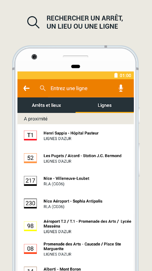 Lignes d'Azur Mobile- screenshot