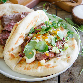 Spring Gyros with Apricot Salsa