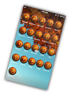 Spatter Orange Icons Pack Screenshot
