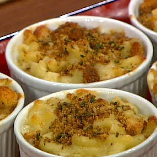 Baked Macaroni's and Cheese with Black Truffle Oil.
