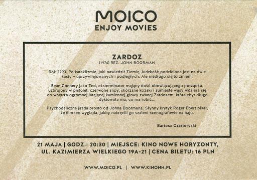 Tył ulotki filmu 'Zardoz'