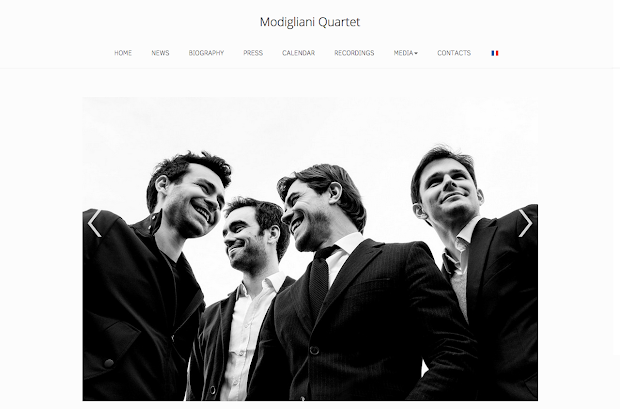 modigliani artist website builder responsive