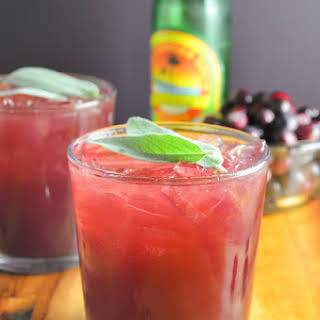 Cranberry Sage Moscow Mules.