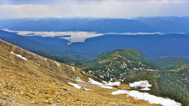 Photo: View of Hungry Horse Reservoir from near the summit.