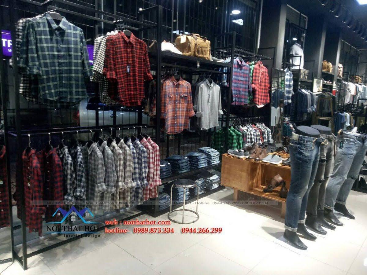 thiết kế shop thời trang nam H2T 22