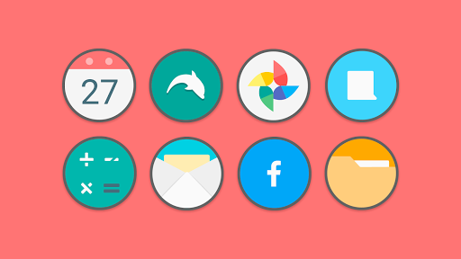 PC u7528 Flat Circle - Icon Pack 2