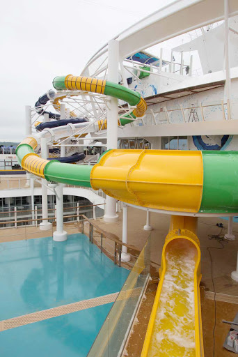 A look at the Perfect Storm, a trio of exhilarating waterslides aboard Harmony of the Seas.