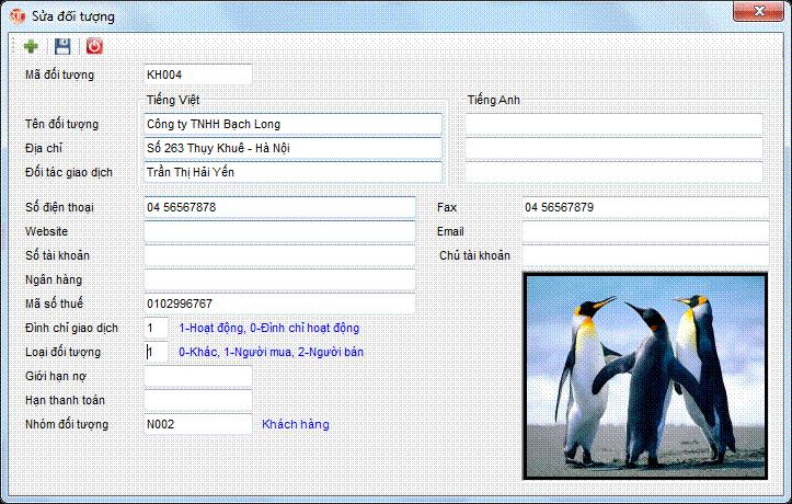 Danh mục đối tượng phần mềm kế toán 3tsoft