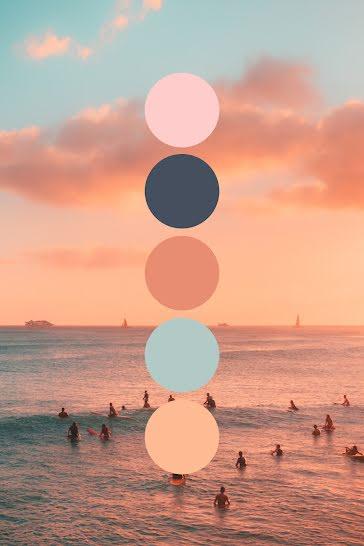 Ocean Sunset - Pinterest Pin template