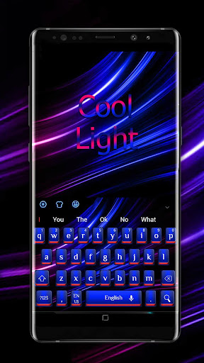 Cool Blue Red Light Keyboard - screenshot