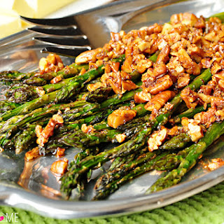 Roasted Asparagus with Brown Butter Pecans