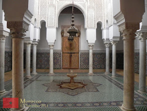 Photo: this is a prayer room at the mausoleum for Moulay Ismaïl (which is also a mosque)