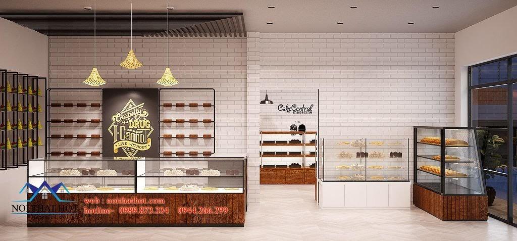 thiết kế cửa hàng bánh đẹp mắt