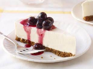 Frozen Lemon Cheesecake With Blueberry Drizzle Recipe