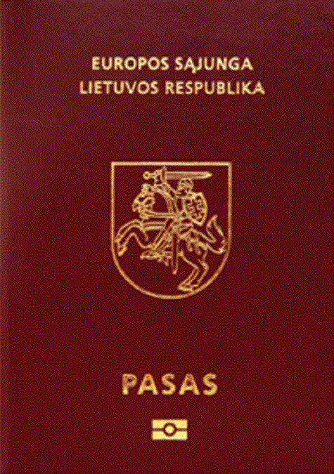 Lithuanian passport cover