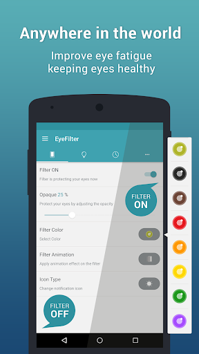 EyeFilter - Bluelight  Apps for Android screenshot