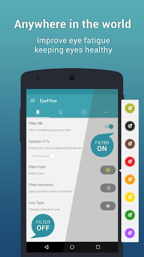 EyeFilter - Bluelight  app for Android screenshot