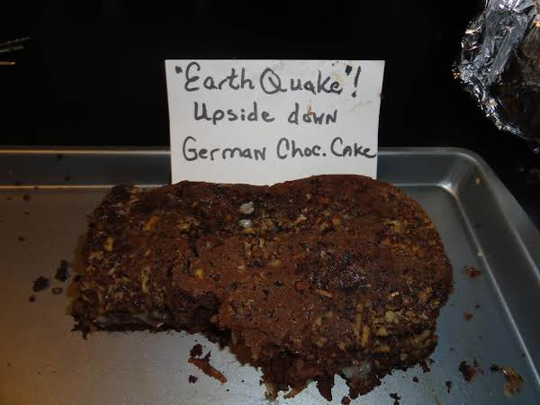 Upside Down German Chocolate Cake Recipe