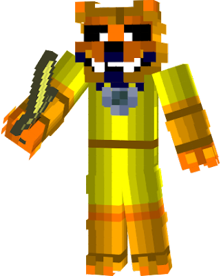 She is Golden Freddy's girlfriend, Golden Foxy is the golden version of Funtime Foxy, she also jumpscares the player and lets the game restart, in the Minigames, Golden Foxy is the tenth dreamcatcher to destroy Adagio Dazzle's nightmares of Nightmare Foxy.