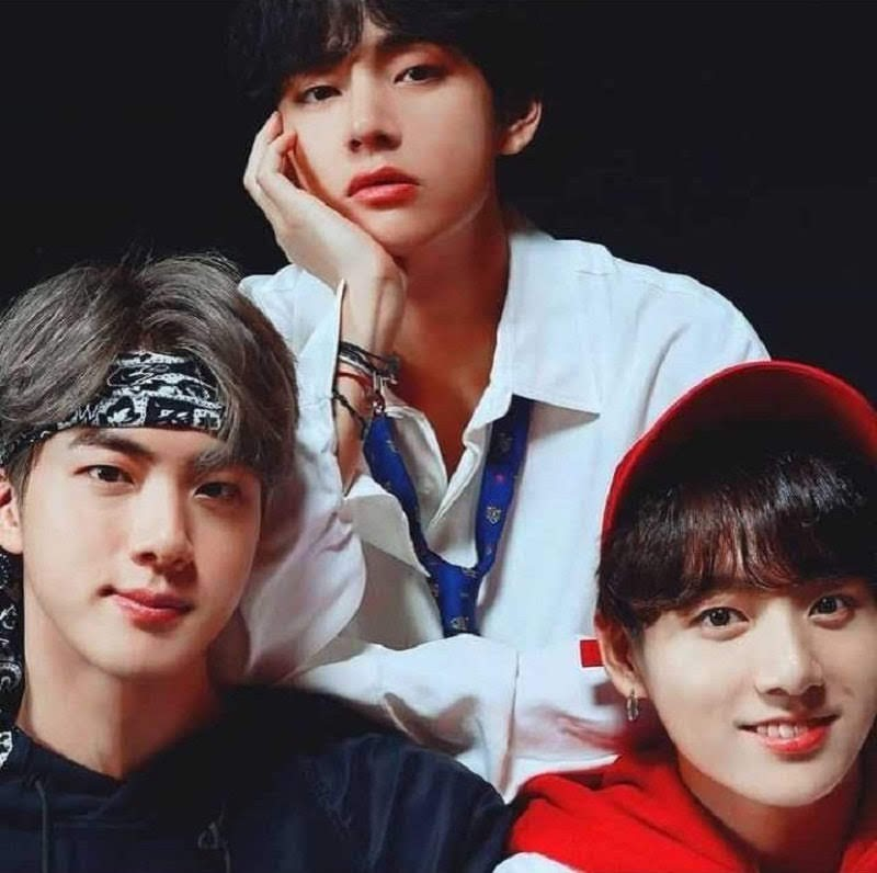 BTS members Jin, Jungkook and V