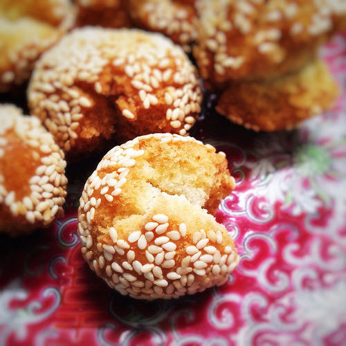 Balls, chinese, cookie, Laughing, laughing cookie, recipe, sesame, Smiling, smiling cookie, 笑口棗
