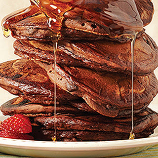 Chocolate, Chocolate, Say It Twice Pancakes