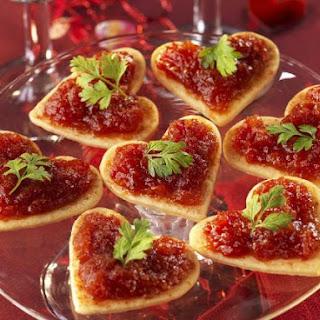 Romantic Savoury Canapes.