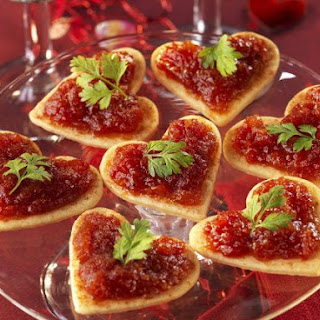 Romantic Savoury Canapes.