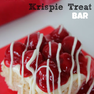 Cherry Cheesecake Krispie Treat Bars