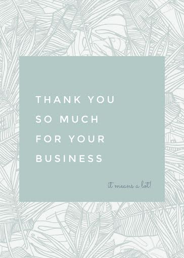 It Means a Lot! - Thank You Card Template