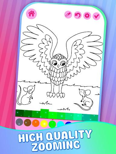 Educative Animated Shining Kids Coloring Book screenshots 1