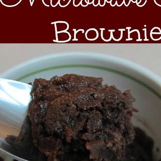 Microwave Brownies Single Serve