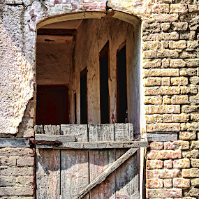 abandoned by Miroslav Bičanić - Buildings & Architecture Decaying & Abandoned ( abanoned, old, vintage, door, bricks, house )