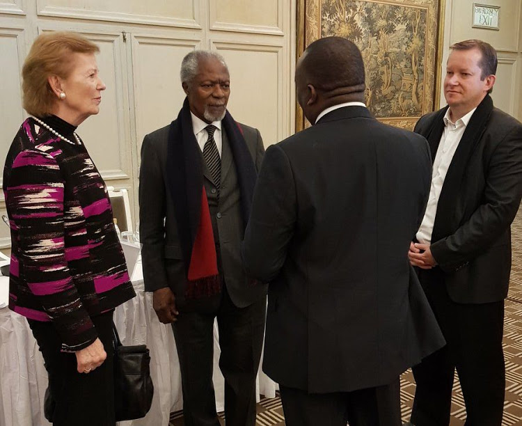 The Elders' led by Kofi Annan, in Zimbabwe on July 19, 2018 to assess the country's preparedness for its upcoming elections.