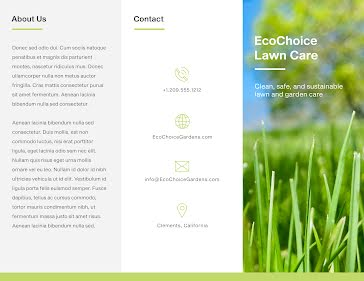 Ecochoice Lawn - Flyer template