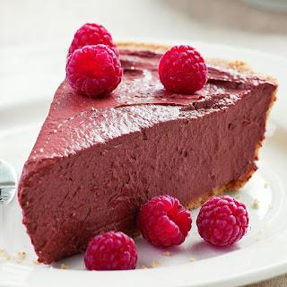 Chocolate Raspberry Tofu Pie.