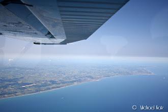 Photo: Og vips er vi over Jylland.