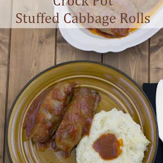 Crock Pot Stuffed Cabbage Rolls.