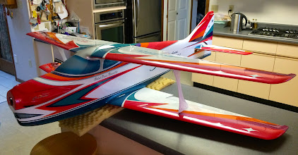 Photo: The cabanes went on next then the top wing was attached. I then added the stabs & canopy.... went together perfectly... simple awed by the quality of this plane.