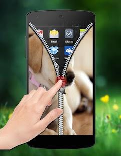 Cute Puppy Zipper Lock screenshot